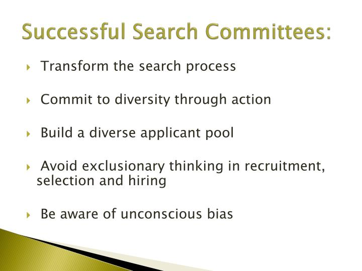 Successful Search Committees: