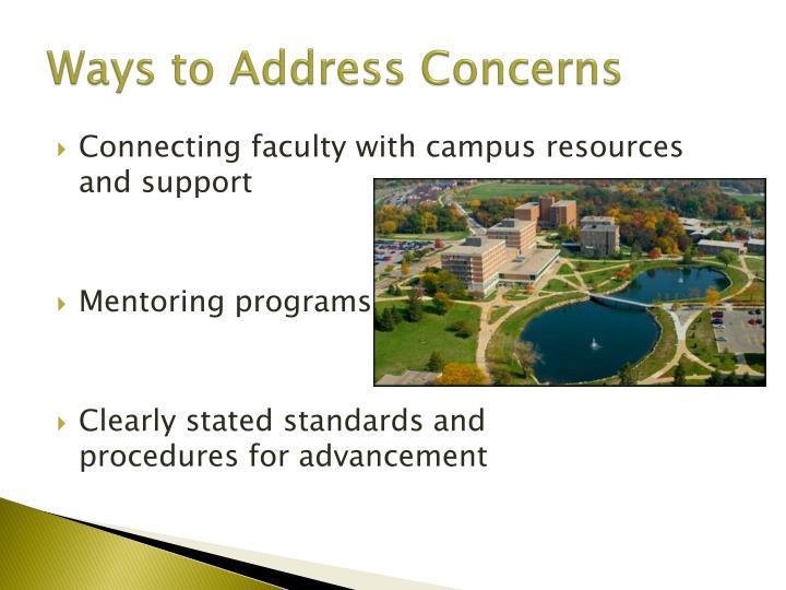 Ways to Address Concerns