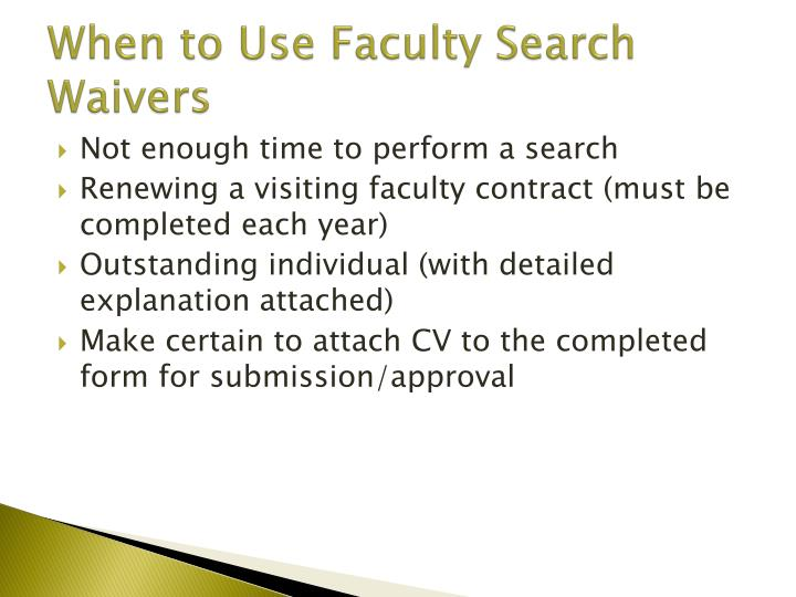 When to Use Faculty Search