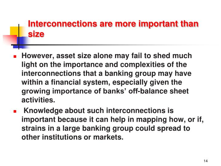 Interconnections are more important than size