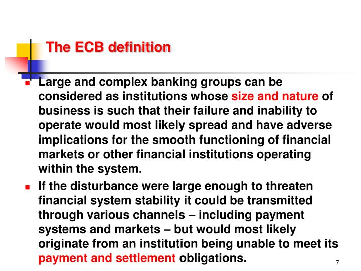 The ECB definition