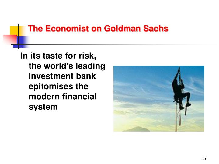 The Economist on Goldman Sachs
