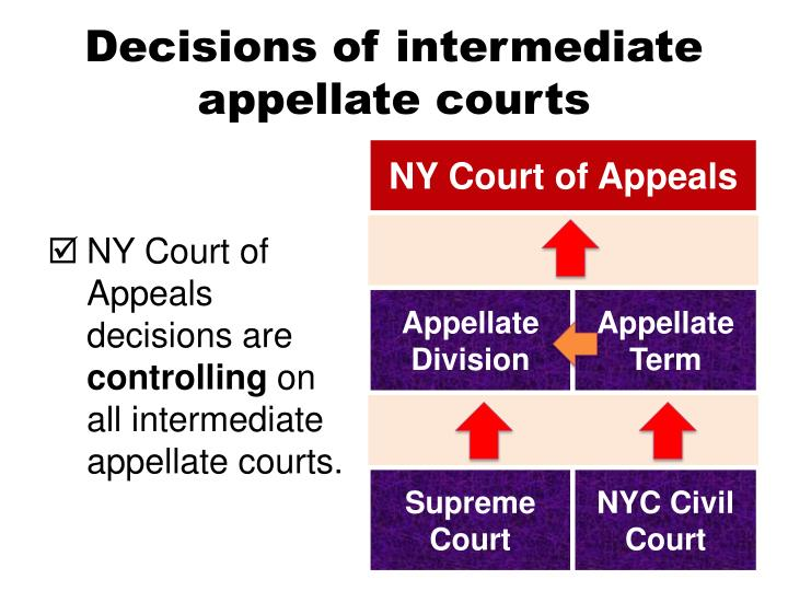 Decisions of intermediate appellate courts