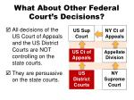what about other federal court s decisions