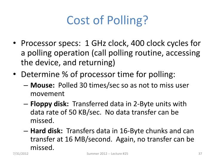 Cost of Polling?