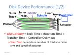 disk device performance 1 2