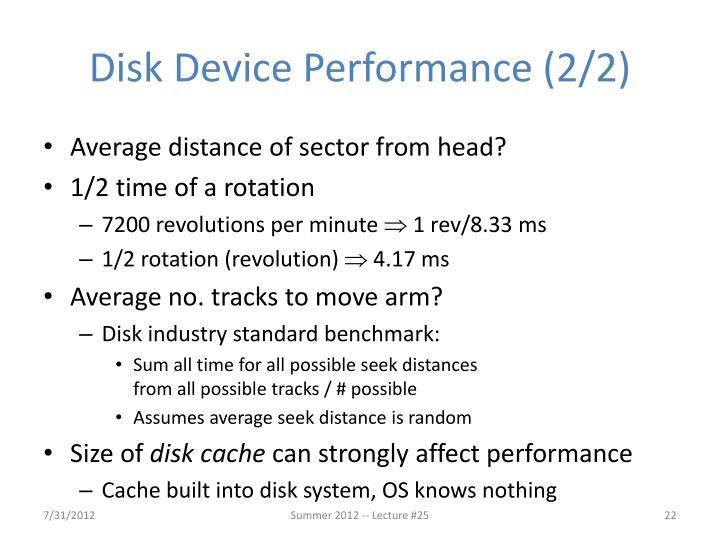 Disk Device Performance (2/2)