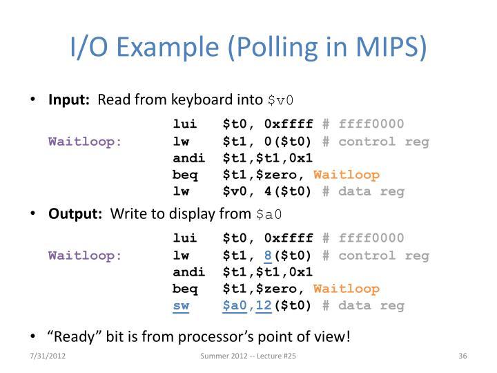 I/O Example