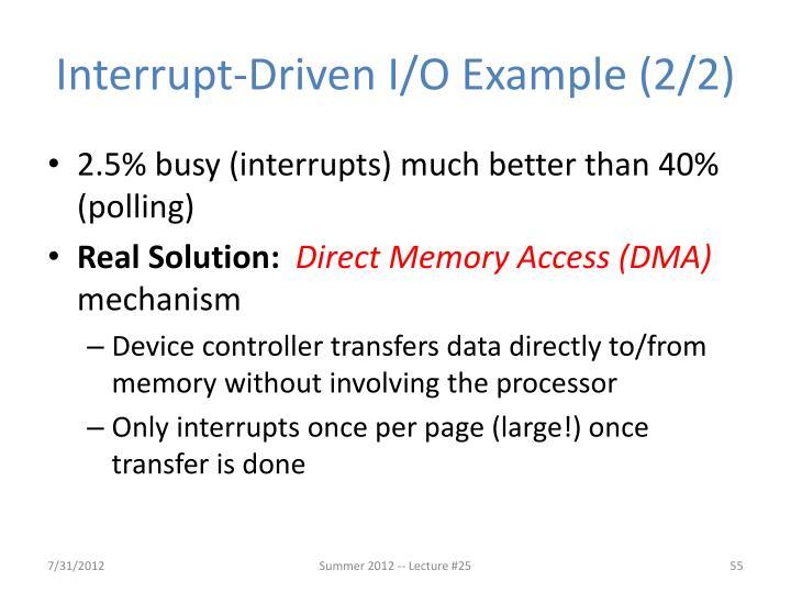 Interrupt-Driven I/O Example