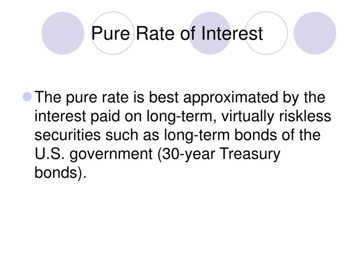 Pure Rate of Interest