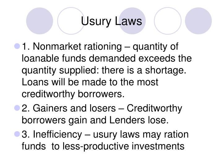 Usury Laws