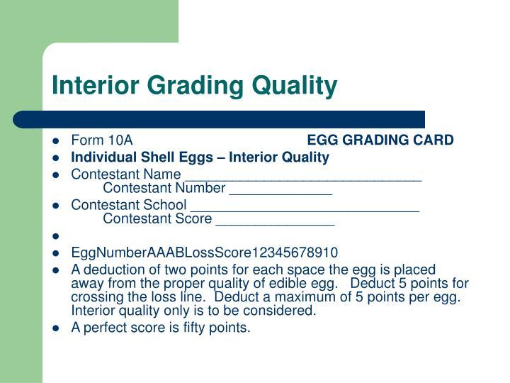 Interior Grading Quality