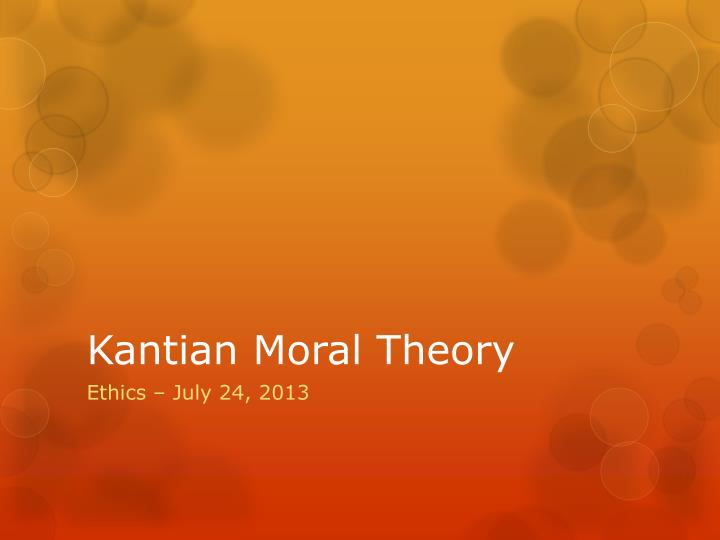 kant moral theories essay