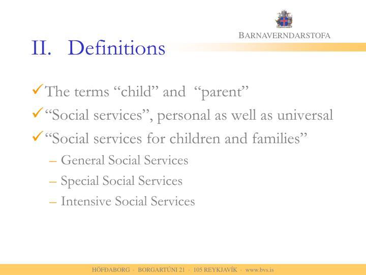 II.Definitions
