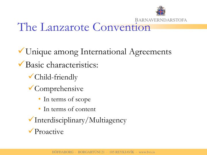 The Lanzarote Convention