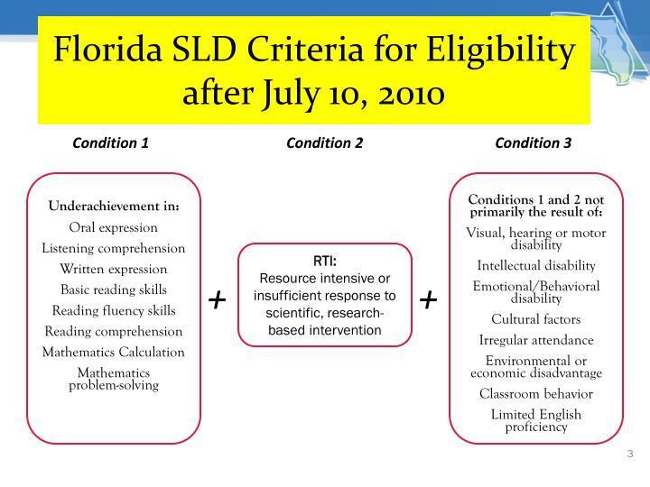 Florida SLD Criteria for