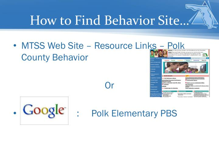 How to Find Behavior Site…