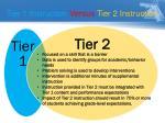 tier 1 instruction v ersus tier 2 instruction2