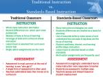 traditional instruction vs standards based instruction