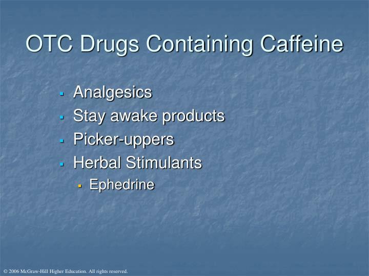 OTC Drugs Containing Caffeine