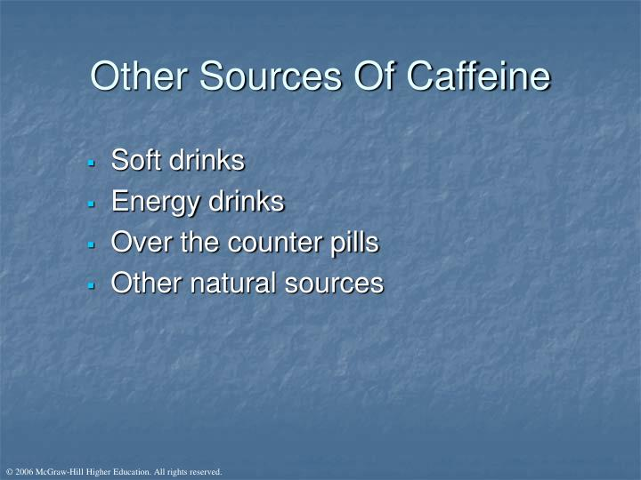 Other Sources Of Caffeine