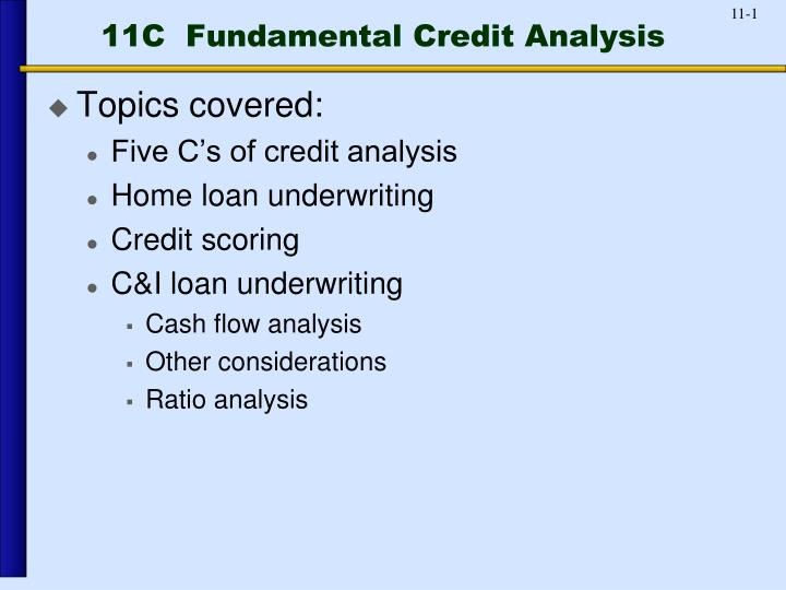 11c fundamental credit analysis