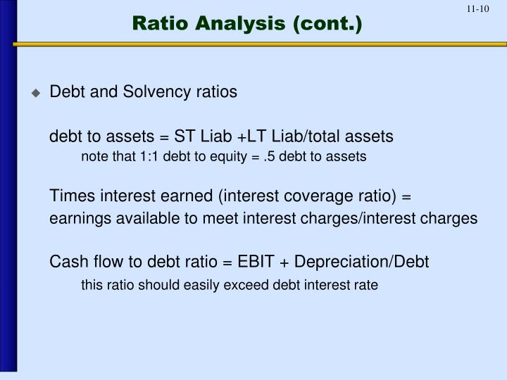 Ratio Analysis (cont.)