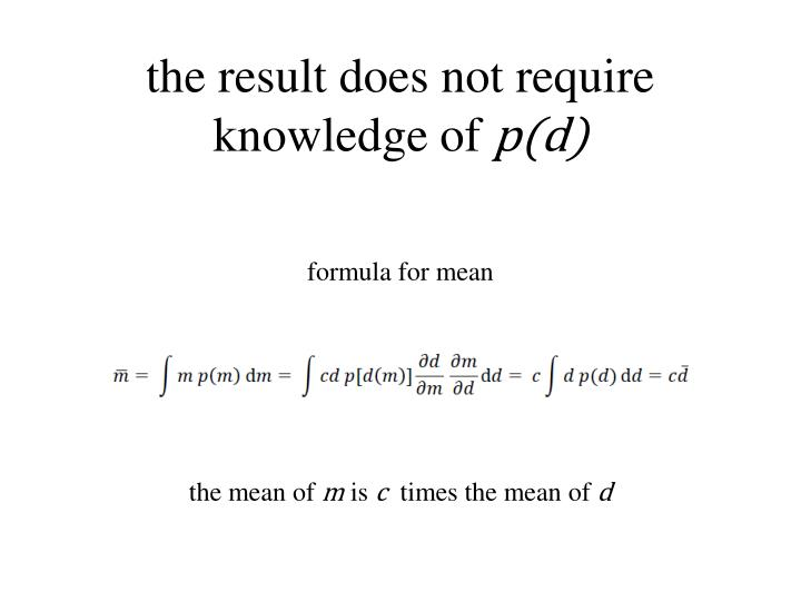 the result does not require knowledge of