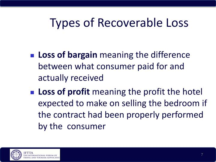 Types of Recoverable Loss