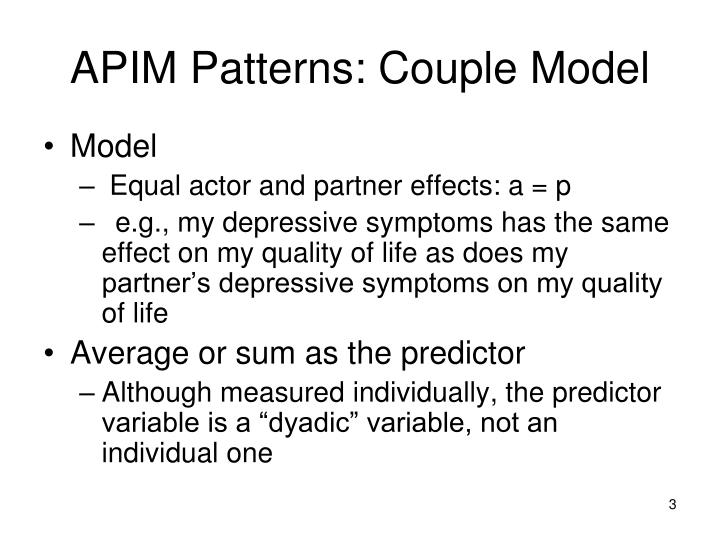 Apim patterns couple model