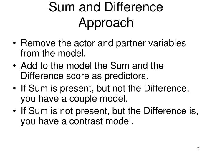 Sum and Difference
