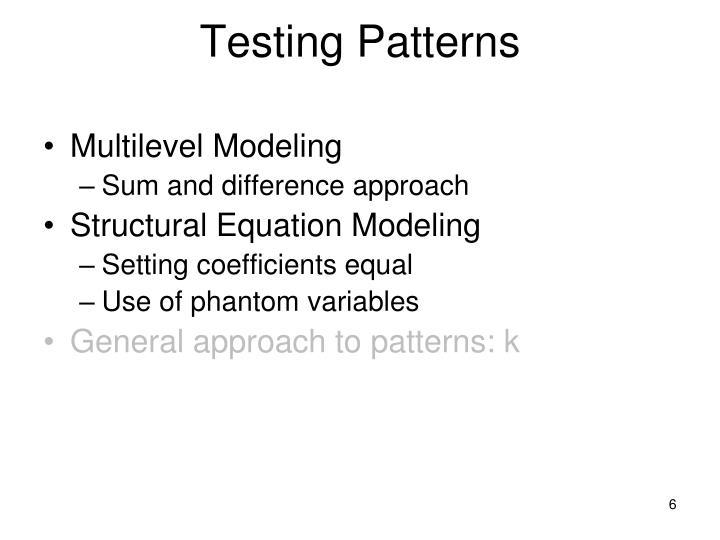 Testing Patterns