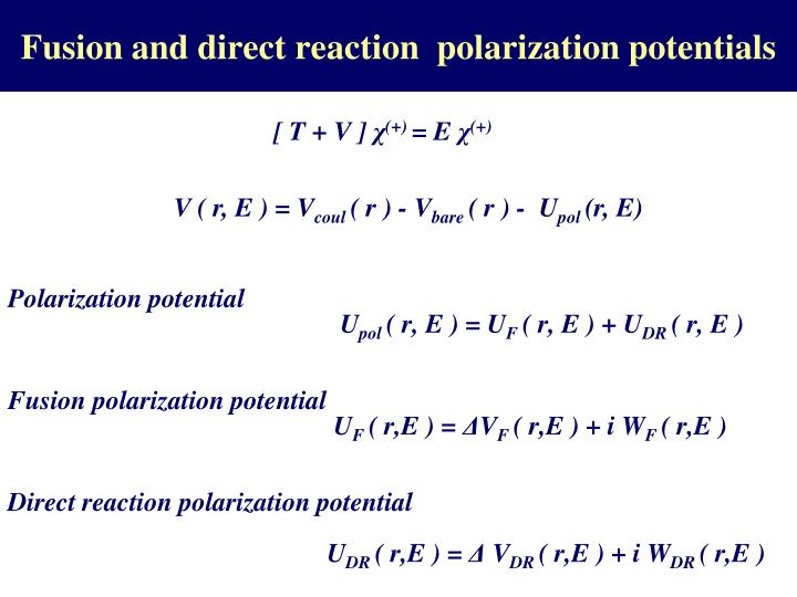 Fusion and direct reaction  polarization potentials