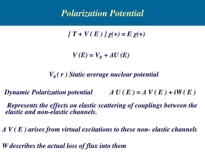 Polarization Potential