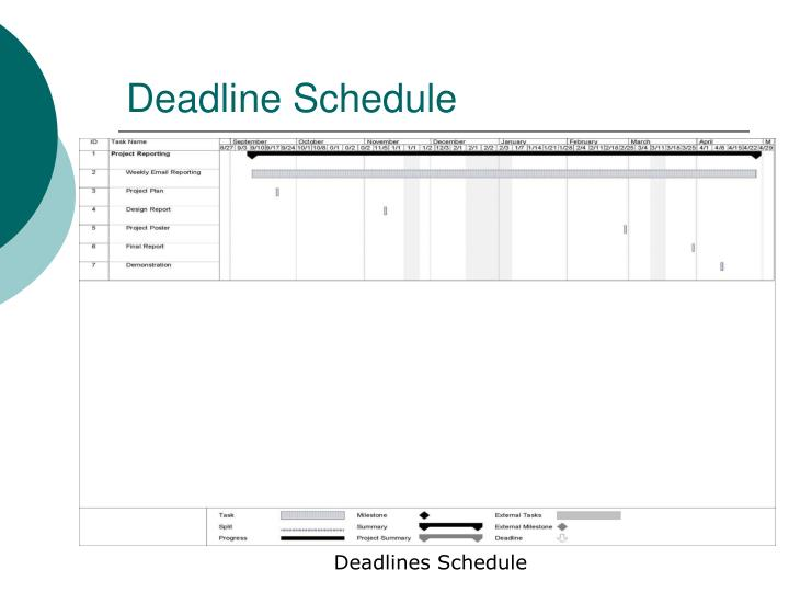 Deadline Schedule