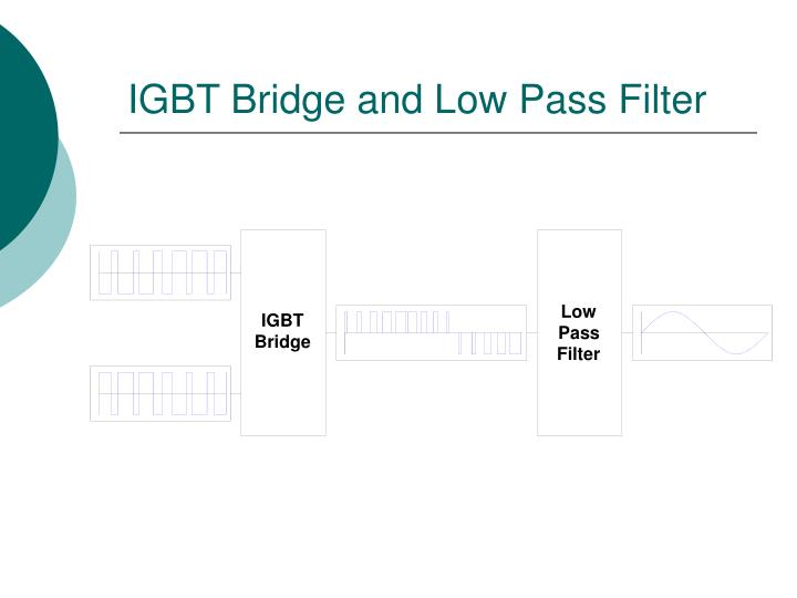 IGBT Bridge and Low Pass Filter