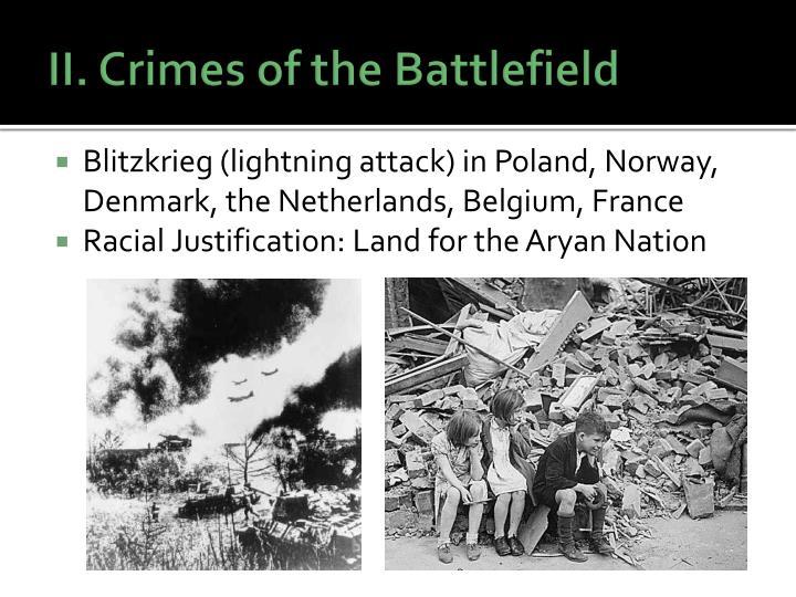II. Crimes of the Battlefield
