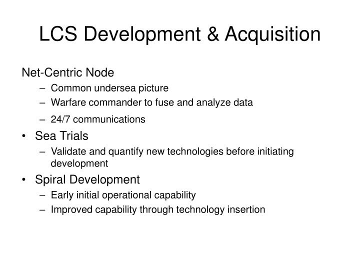 LCS Development & Acquisition