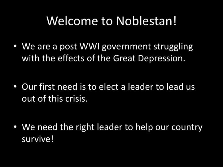 Welcome to noblestan