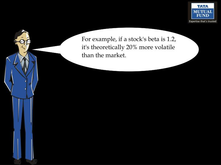 For example, if a stock's beta is 1.2, it's theoretically 20% more volatile than the market.