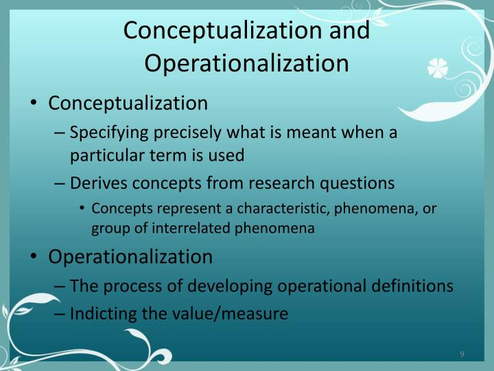 Conceptualization and Operationalization