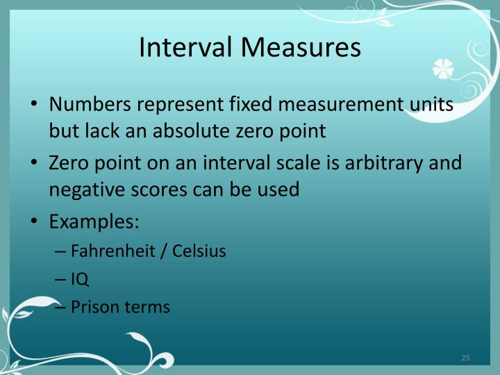 Interval Measures