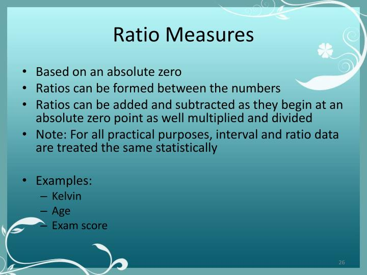 Ratio Measures