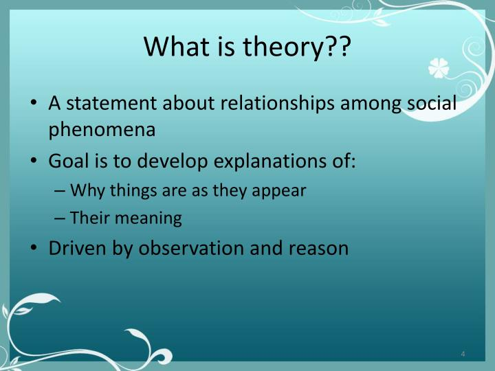 What is theory??