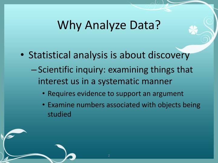 Why analyze data
