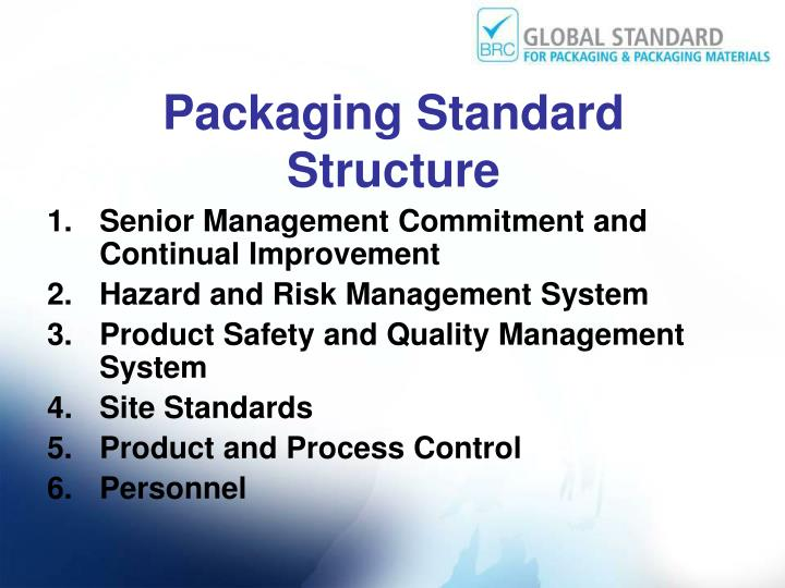Packaging Standard