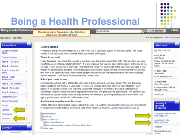 Being a Health Professional