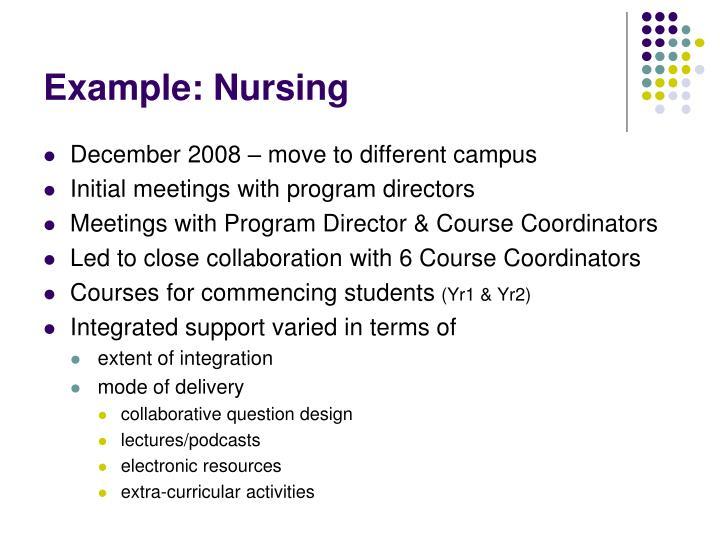 Example: Nursing