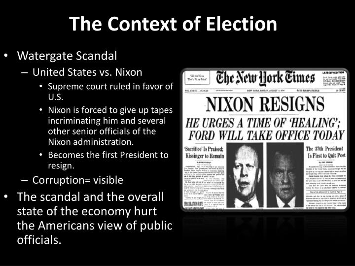 The Context of Election