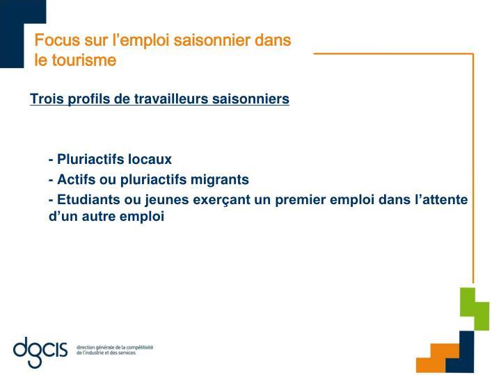 Focus sur l'emploi saisonnier dans le tourisme
